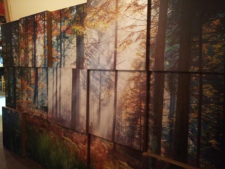 Murale sans éclairage